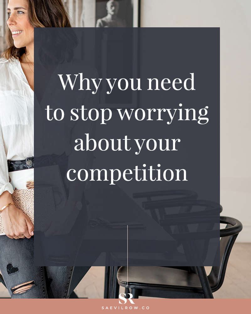 Why you need to stop worrying about your competition