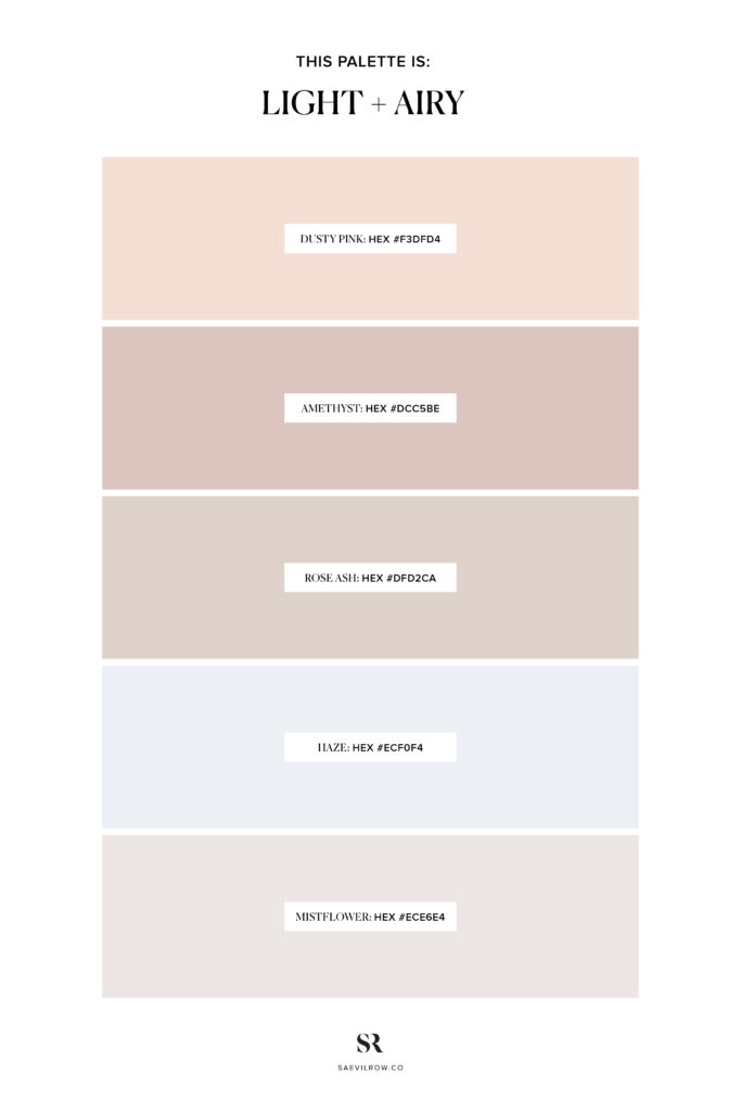 Light and Airy Colour Palette